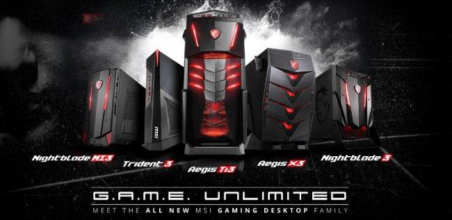 msi har afsl ret ny gaming computerserie gamereactor. Black Bedroom Furniture Sets. Home Design Ideas