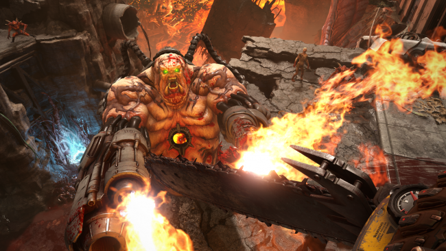 Her er hårdtslående gameplay fra Doom Eternal