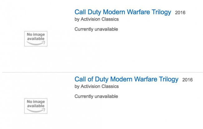 Call Of Duty: Modern Warfare Trilogy lækket på Amazon UK