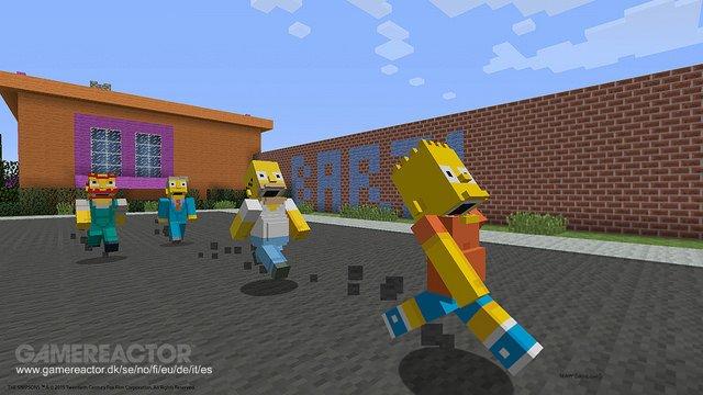 I Simpsons in arrivo in Minecraft su PlayStation
