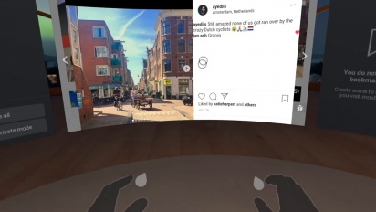 Oculus - Browsing Instagram in Oculus Browser