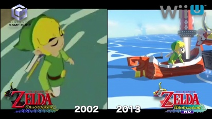 The Legend of Zelda: The Wind Waker HD - Gamecube vs. Wii U comparison 1