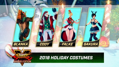 Street Fighter V: Arcade Edition - Holiday Costumes 2018