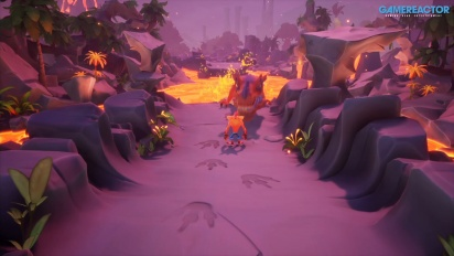Crash Bandicoot 4: It's About Time - Snow Way Out and Dino Dash Gameplay
