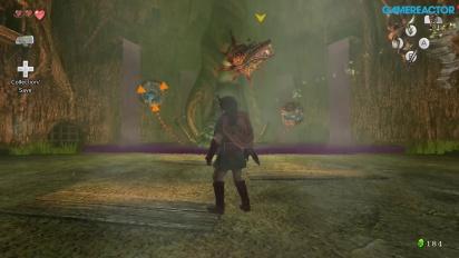 The Legend of Zelda: Twilight Princess HD - Forest Temple Diababa Boss Battle Gameplay