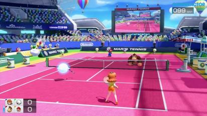 Mario Tennis Ultra Smash - Classic & Simple Doubles Gameplay - Daisy & Boo vs DK & Mario