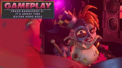Crash Bandicoot 4: It's About Time - Guitar Hero Boss Gameplay