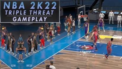 NBA 2K22 - Triple Threat PS4 Gameplay