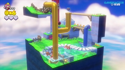 Captain Toad: Treasure Tracker: Mission 2-5 Floaty Fun Water Park Gameplay