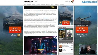 GRTV News - CD Projekt Red announces crunch on Cyberpunk 2077
