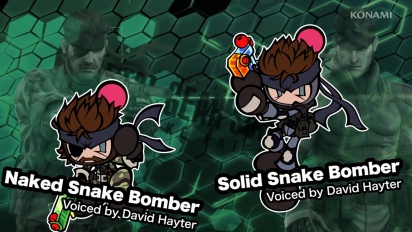 Super Bomberman R - Presents David Hayter as Naked and Solid Snake!