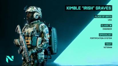 Battlefield 2042 - Kimble 'Irish' Graves Specialist Abilities