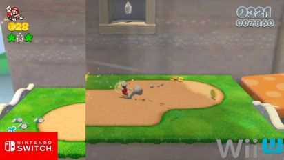 Super Mario 3D World - Nintendo Switch vs Wii U Graphics Comparison
