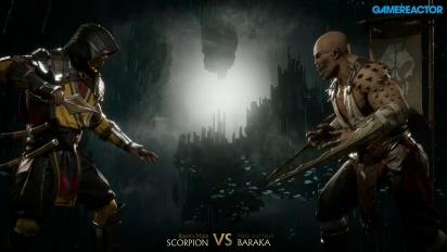 Mortal Kombat 11 - Scorpion vs. Baraka Reveal Event Gameplay