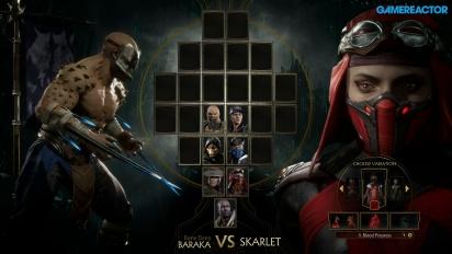 Mortal Kombat 11 - Baraka VS. Skarlet Reveal Event Gameplay