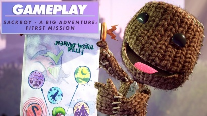 Sackboy: A Big Adventure - First Level - Gameplay